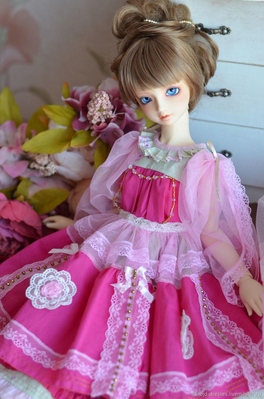 Наряд для кукол Платье малиновое для БЖД SD, Одежда для кукол, Электросталь,  Фото №1