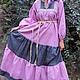 """Одежда ручной работы. Платье  """"Ягодно-серое"""". СЛАВный стиль от Заряны. Интернет-магазин Ярмарка Мастеров. Народная одежда"""