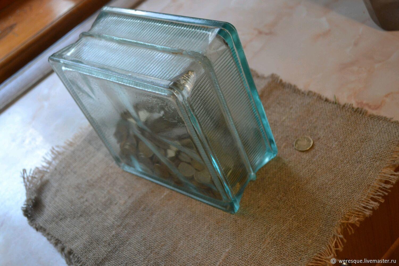 c250a3ca3 Копилки ручной работы. Ярмарка Мастеров - ручная работа. Купить Копилка  стеклянный куб.