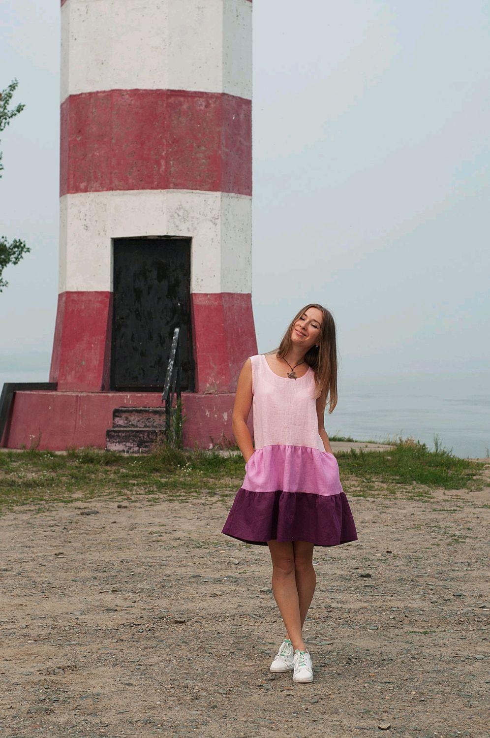 Платье из льна, Платья, Новосибирск, Фото №1