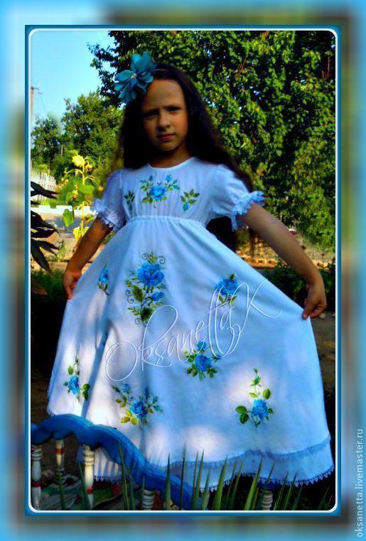 """Одежда для девочек, ручной работы. Ярмарка Мастеров - ручная работа. Купить Платье """"Для девочки с глазами цвета неба"""". Handmade."""