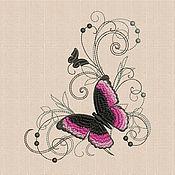Материалы для творчества handmade. Livemaster - original item Machine Embroidery Design Butterfly Silk bt183. Handmade.