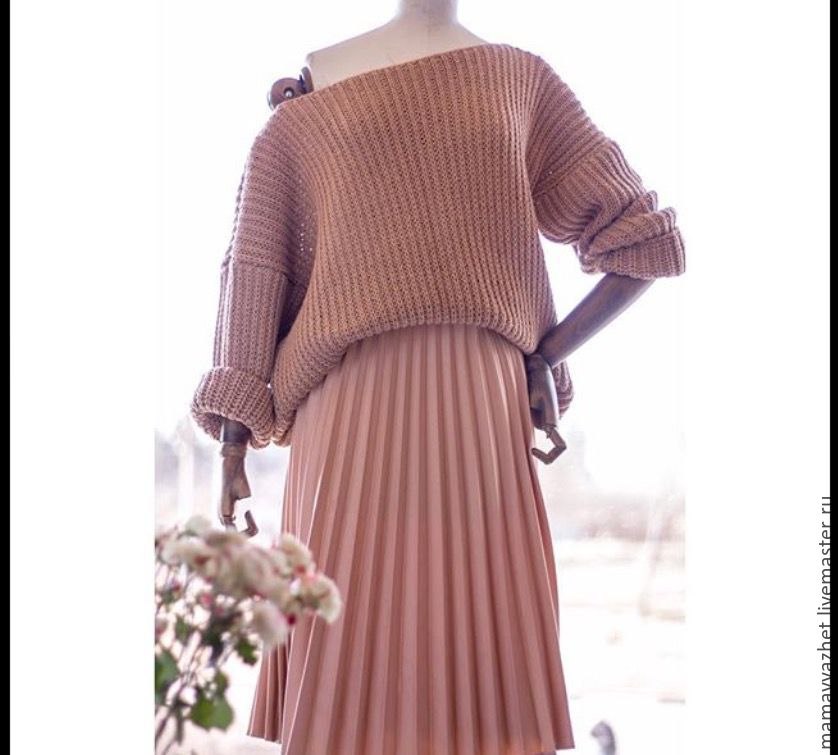 свитер со спущенным плечом купить в интернет магазине на ярмарке
