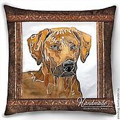 Картины и панно handmade. Livemaster - original item Decorative pillow