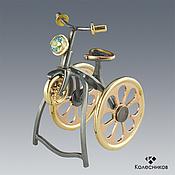 Украшения handmade. Livemaster - original item Ring BIKE (silver, gold, Topaz). Handmade.