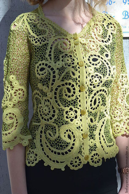 """Пиджаки, жакеты ручной работы. Ярмарка Мастеров - ручная работа Жакет """" Нежный ажур"""".. Handmade."""