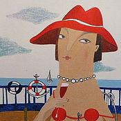 """Картины и панно ручной работы. Ярмарка Мастеров - ручная работа """"Я настоящая Мадам!"""" картина маслом на холсте. Handmade."""