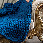 Для дома и интерьера ручной работы. Ярмарка Мастеров - ручная работа Плед ручной работы из 100% шерсти мериноса. Handmade.