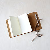 Скетчбуки ручной работы. Ярмарка Мастеров - ручная работа Теплый блокнот-скетчбук в обложке из кожи. Handmade.