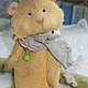 Мишки Тедди ручной работы. Ярмарка Мастеров - ручная работа. Купить Хомяк Хома-Хомочка. Handmade. Желтый, хомяк