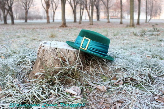 Шляпы ручной работы. Ярмарка Мастеров - ручная работа. Купить Шляпа Лепрекона. Дамская . Маленькая.. Handmade. Зеленый, лепреконская шляпа