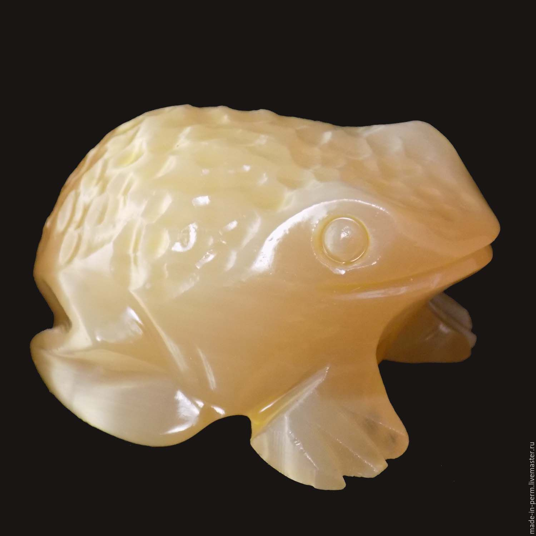 Лягушка пупырчатая  - фигурка из камня Селенит, Статуэтки, Орда,  Фото №1