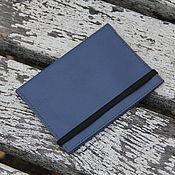 Канцелярские товары ручной работы. Ярмарка Мастеров - ручная работа Обложка для паспорта синяя натуральная кожа. Handmade.