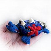 Куклы и игрушки ручной работы. Ярмарка Мастеров - ручная работа Войлочная фигурка — Морская черепашка. Handmade.