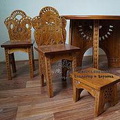 Для дома и интерьера handmade. Livemaster - original item Headsets children`s Table, chairs, stand the Sun. Handmade.