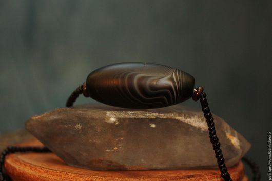 Колье, бусы ручной работы. Ярмарка Мастеров - ручная работа. Купить Цепочка. Тибеткая родовая старинная буиcнка Дзи. Handmade.