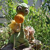 Куклы и игрушки ручной работы. Ярмарка Мастеров - ручная работа Мастер класс по вязанию  Прогулка с Динозавриком. Handmade.