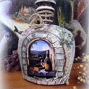 Для дома и интерьера ручной работы. Ярмарка Мастеров - ручная работа Декоративная бутылка. Handmade.