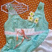 Одежда ручной работы. Ярмарка Мастеров - ручная работа Летнее платье - сарафан из хлопка Ландыш. Handmade.
