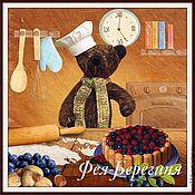 """Для дома и интерьера ручной работы. Ярмарка Мастеров - ручная работа фотокартина сказка """"Черничный пирог"""". Handmade."""