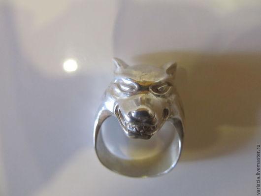 """Кольца ручной работы. Ярмарка Мастеров - ручная работа. Купить Кольцо мужское """"Волк""""из серебра. Handmade. Серебряный"""