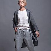Пиджаки ручной работы. Ярмарка Мастеров - ручная работа Комплект - жакет, топ и брюки из 100% льна. Handmade.