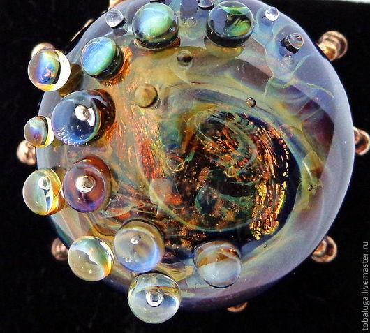Кольца ручной работы. Ярмарка Мастеров - ручная работа. Купить Кольцо лэмпворк Солнечный ветер. Handmade. Кольцо, солнечный