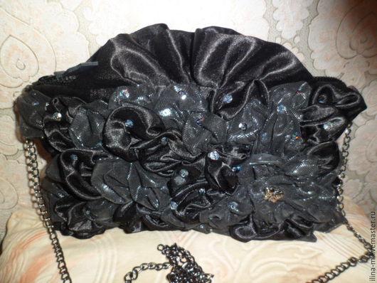 Женские сумки ручной работы. Ярмарка Мастеров - ручная работа. Купить Сумочка. Handmade. Черный, органза, бисер, органза