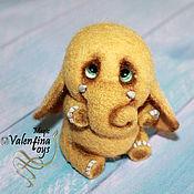 Куклы и игрушки ручной работы. Ярмарка Мастеров - ручная работа Валяный слоник. Handmade.