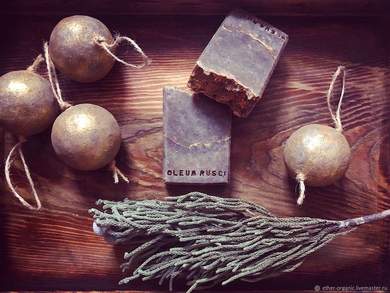 Oleum Rusci. Натуральное мыло с березовым дегтем, Мыло, Омск,  Фото №1