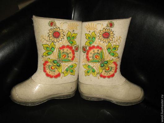 Обувь ручной работы. Ярмарка Мастеров - ручная работа. Купить Валенки. Handmade. Валенки с декором, валенки для улицы, бусины стеклянные