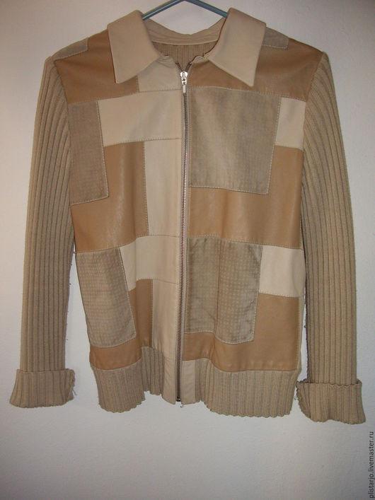 Одежда. Ярмарка Мастеров - ручная работа. Купить женская курточка/пиджак из замши и кожи. Handmade. Бежевый, натуральная кожа
