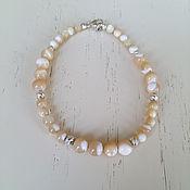 Украшения handmade. Livemaster - original item Bracelet natural Stones mother of Pearl Silver. Handmade.