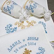 Свадебный салон handmade. Livemaster - original item Set for wedding. SKU: 0226-1 (blue). Handmade.
