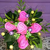 Косметика ручной работы handmade. Livemaster - original item A bouquet of soap in a Ceramic vase