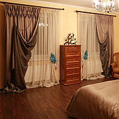 Для дома и интерьера handmade. Livemaster - original item Curtains for bedroom BOOTHE. Handmade.