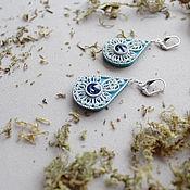 Украшения ручной работы. Ярмарка Мастеров - ручная работа Серьги Light blue. Handmade.