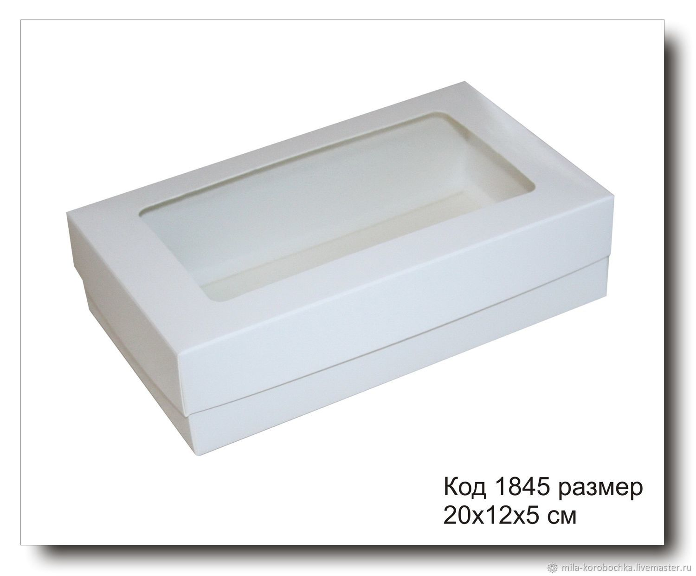 1845 коробочка с окошком размер 20х12х5 см, Упаковка, Симферополь, Фото №1