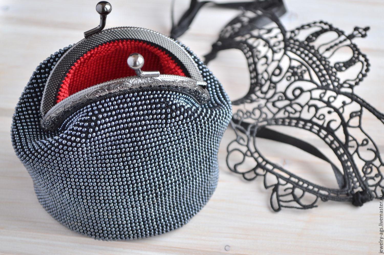 Вязание бисером кошелек с фермуаром