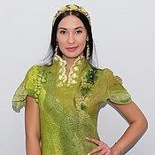 """Одежда ручной работы. Ярмарка Мастеров - ручная работа Валяное платье  """"Lime"""". Handmade."""