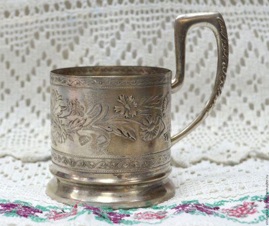 Винтажная посуда. Ярмарка Мастеров - ручная работа. Купить Подстаканник мельхиоровый серебрение 30-е года 20 века. Handmade.