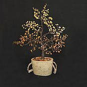 Подарки к праздникам ручной работы. Ярмарка Мастеров - ручная работа Дерево счастья Янтарное. Handmade.