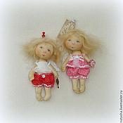 Куклы и игрушки ручной работы. Ярмарка Мастеров - ручная работа Тебе, мой Ангел:) ...Ангелочки ПУГОВКИ. Handmade.