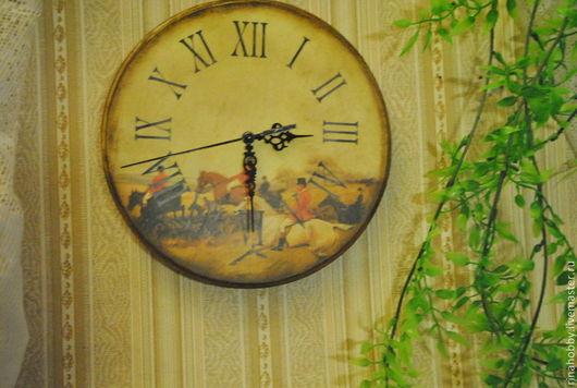 """Часы для дома ручной работы. Ярмарка Мастеров - ручная работа. Купить Часы """"Охотничьи"""". Handmade. Коричневый, прихожая, часы интерьерные"""