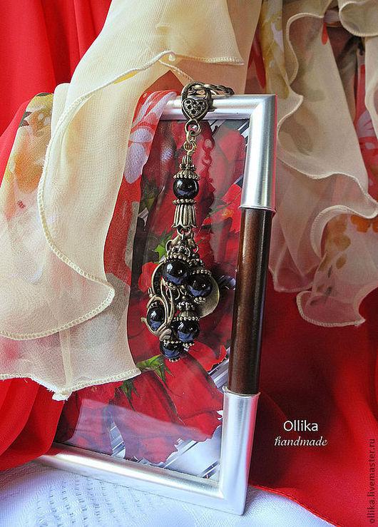Фото Брелок для ключей, на сумку Первая Чашечка Кофе Coffeemania Barista Агат черный