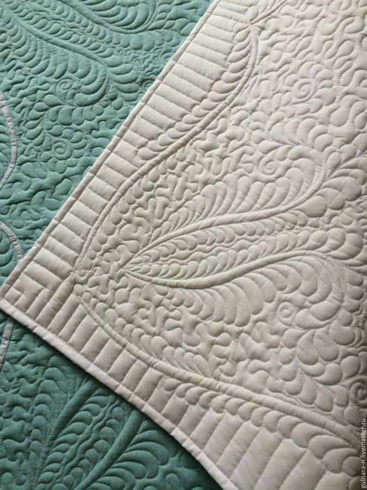 Для новорожденных, ручной работы. Ярмарка Мастеров - ручная работа. Купить Одеяло лазурное.. Handmade. Голубой, трапунто, беременным, полиэстер
