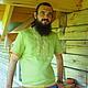 """Для мужчин, ручной работы. Ярмарка Мастеров - ручная работа. Купить Мужская льняна рубаха """"Зелёный коктейль"""". Handmade. Салатовый"""