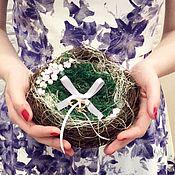 Свадебный салон ручной работы. Ярмарка Мастеров - ручная работа Гнездышко Подушечка для колец. Handmade.