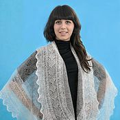 Аксессуары handmade. Livemaster - original item 41 down drapery Openwork patterns, accessories, shawls, down shawl. Handmade.