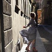 Одежда ручной работы. Ярмарка Мастеров - ручная работа Платье- рубашка в мелкую клетку. Handmade.